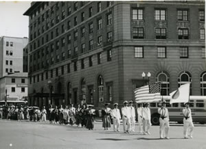 日米修好百年記念航海ワシントン市内行進