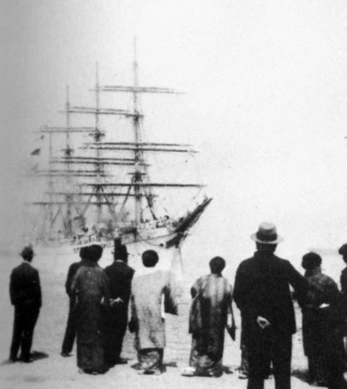帆船日本丸:ホノルルでの出迎へ