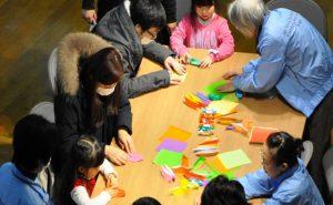 土曜日の折り紙教室